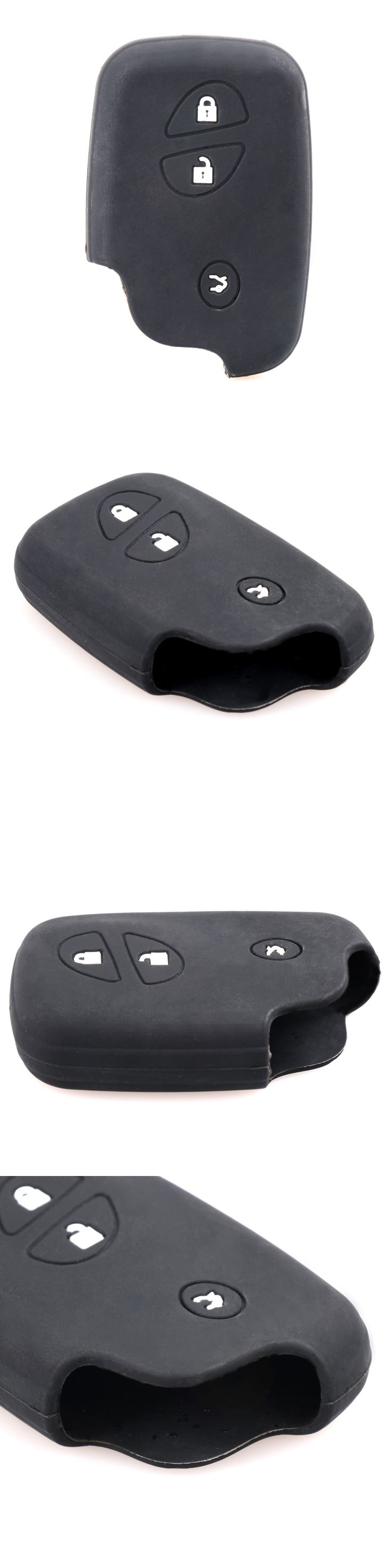 3 Buttons Silicone Car Key Shell For Lexus CT200h ES 300h IS250 GX400 RX270 RX450h RX350 LX570 Auto Key Cover Case With L0G0