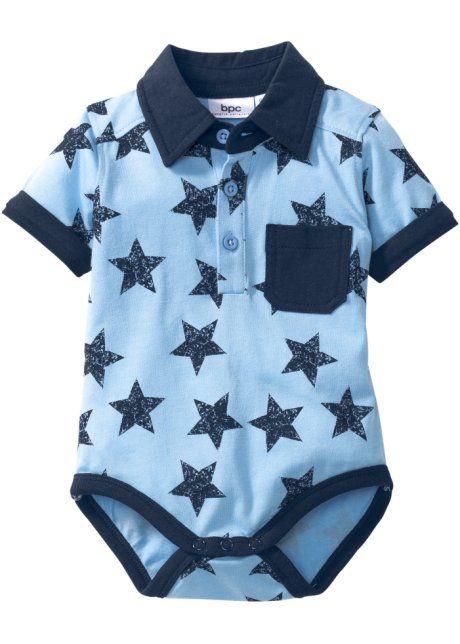 Мода для малышей: боди из биохлопка, bpc bonprix collection, нежно-голубой меланж