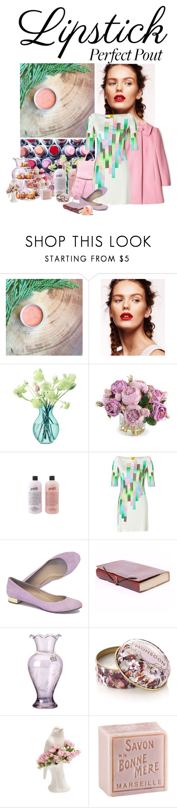 """""""A Spring Look"""" by dreams-of-a-masked-nightingale ❤ liked on Polyvore featuring beauty, House of Fraser, LSA International, New Growth Designs, philosophy, RED Valentino, CÉLINE, Catherine Malandrino, J.Crew and Lenox"""