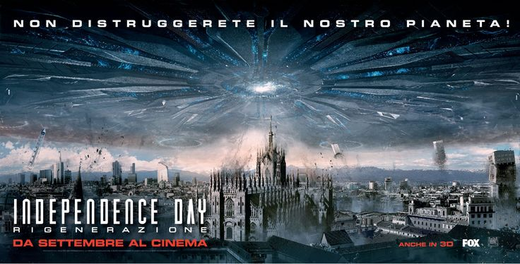Movie poster for Italian advertising campaign for Independence Day - Resurgence, a film by Roland Emmerich. Poster by Alter Advertising.