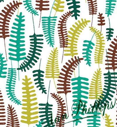 Fern pattern ©Ian Phillips featured on Print and Pattern blog:  http://printpattern.blogspot.ca/2013/05/surtex-2013-ian-phillips.html