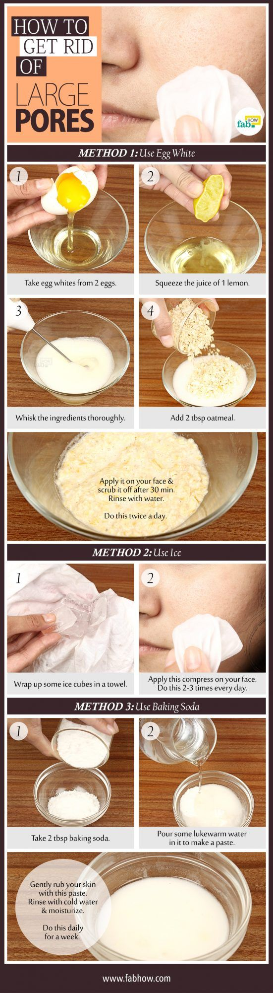 Very Effective Home Remedy to Shrink and Tighten Large Open Pores Naturally