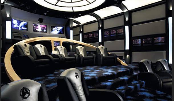 Star Trek #HomeTheatre Ship Bridge