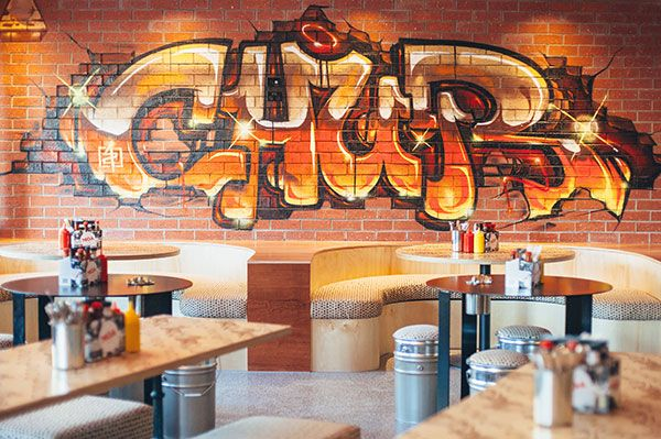 Sensational burgers and a funky atmosphere can be found at Chur Burger - Ground floor, TRYP Hotel Fortitude Valley