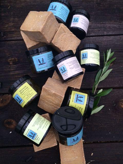 Lena Losciale Skincare. Plant based. Aleppo soap. Moroccan Black Soap. Body Balm.