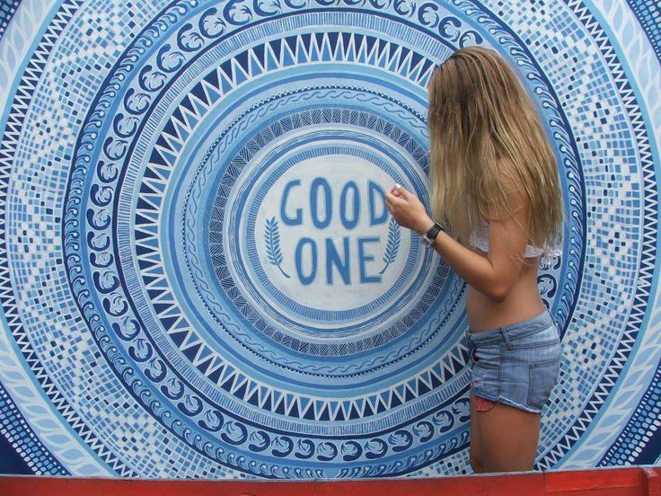 #blue #goodone #bali #wall #boat #denim #patterns #aqua #darkblue #beach #summer #blonde #hair #stripes #ripcurl
