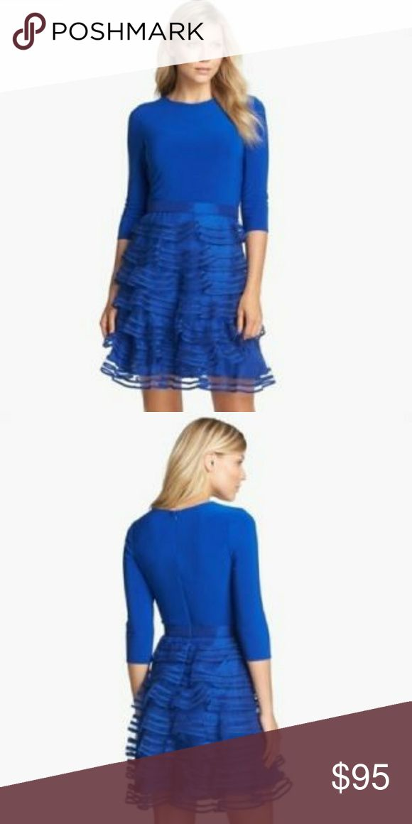 Cocktail Midi Dress by kathy hilton size 6 Mid length long sleeves dress. Beautiful royal blue color. In perfect condition. Only worn once. kathy hilton Dresses Midi