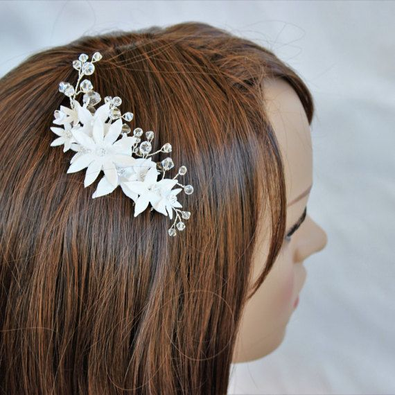 Wedding headpiece bridesmaid hair piece by RoseAndVineBridal