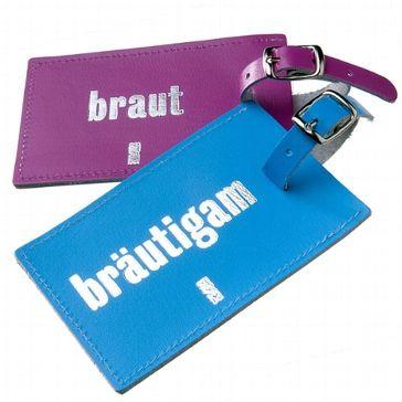 "Kofferanhänger ""Braut"" und ""Bräutigam"" - weddix"