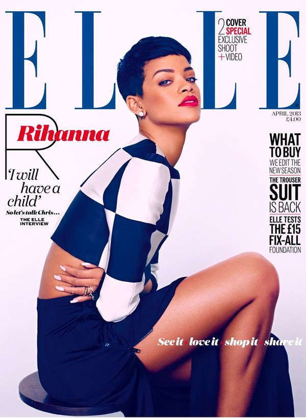 The Rihanna Elle UK Fashion Story Channels a 60s MOD Inspiration #fashion trendhunter.com