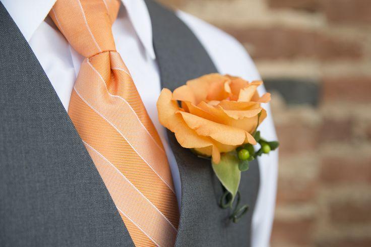 orange grey wedding - Google Search