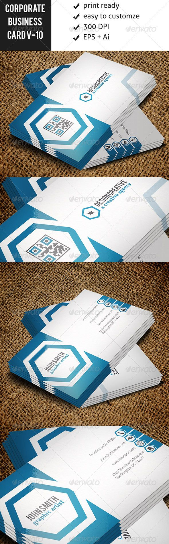 112 best print templates images on pinterest modelos de impresso corporate business card vo 10 reheart Image collections