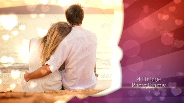 Use it for your slide show    http://videohive.net/item/wedding-and-romantic-motion/10110528?WT.ac=portfolio&WT.z_author=up3d