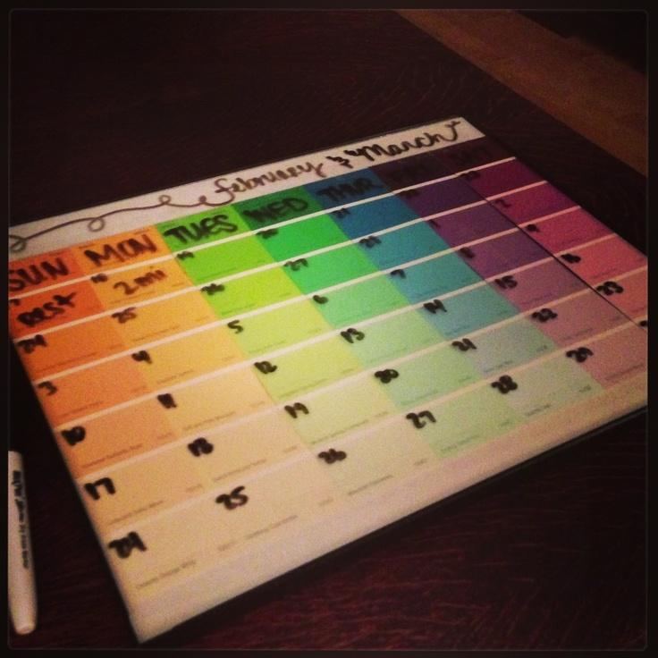 best 25 paint sample calendar ideas on pinterest calendar home make your own calendar and