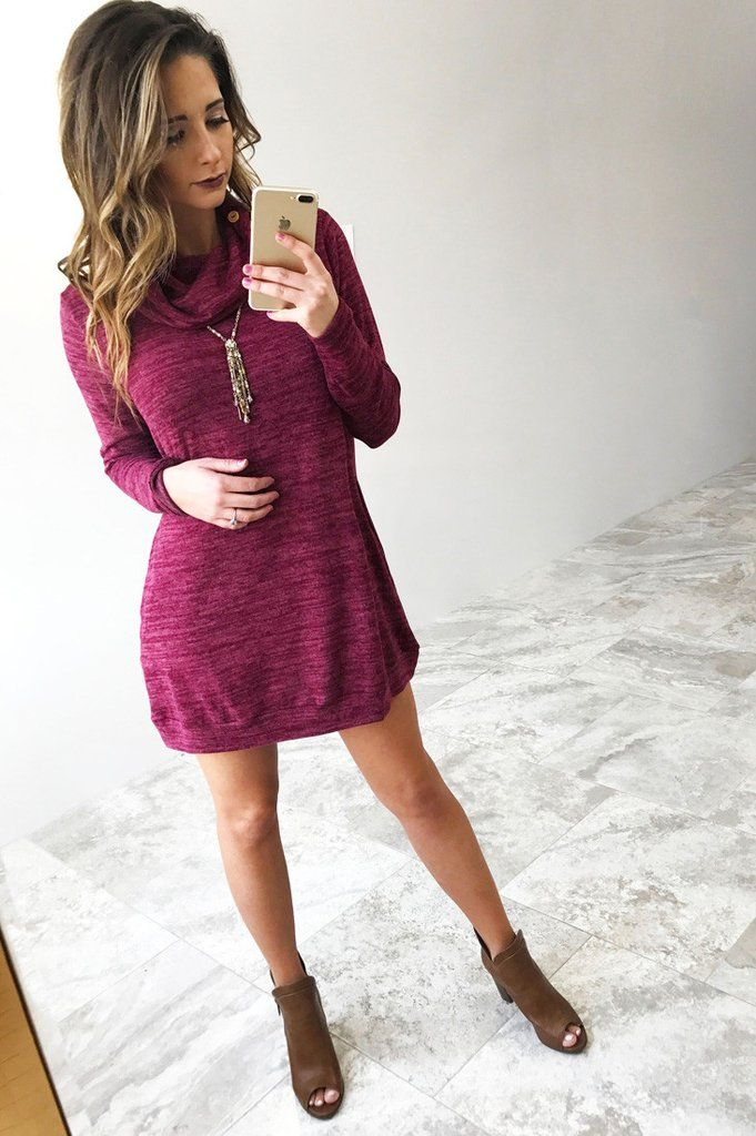 Making Moves Dress: Berry