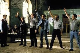 The cast of the Full Monty film made in Sheffield