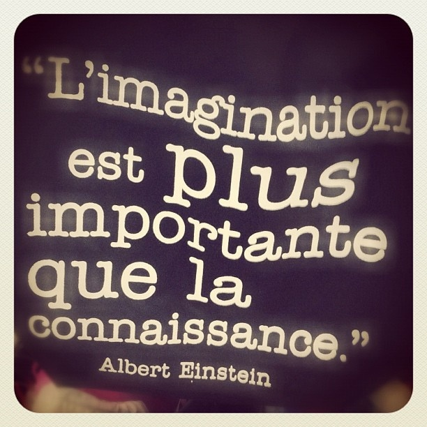 "Citation du Jour ""imagination is more important than knowledge"""