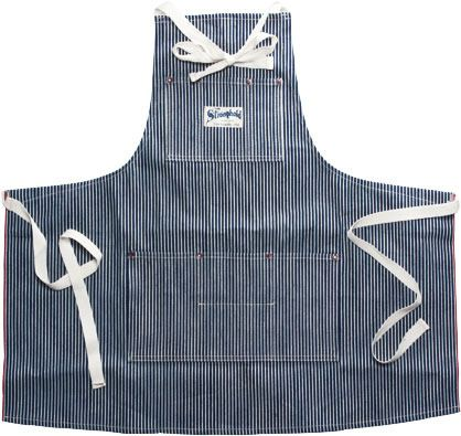 Stronghold Hickory Stripe Apron; The most and, with the exception of leather, possibly only manly apron I've ever seen. I've always wanted one of these but DAMN they're expensive!