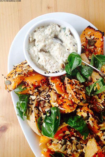 Ottolenghi's Roasted Butternut Squash With Burnt Aubergine