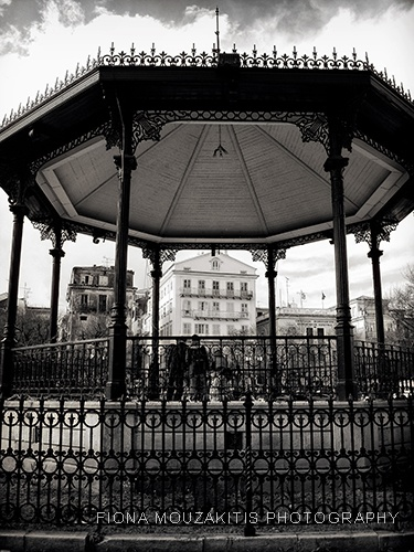 THE BANDSTAND. Corfu Town park. Corfu Greece
