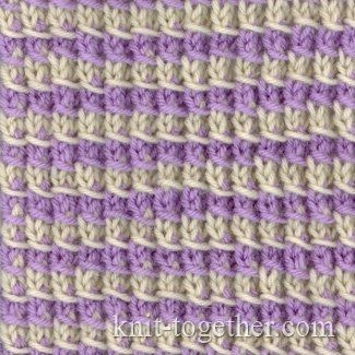 Knit Together | Simple Two-Color Pattern 2, knitting pattern chart, color knitting stitch pattern