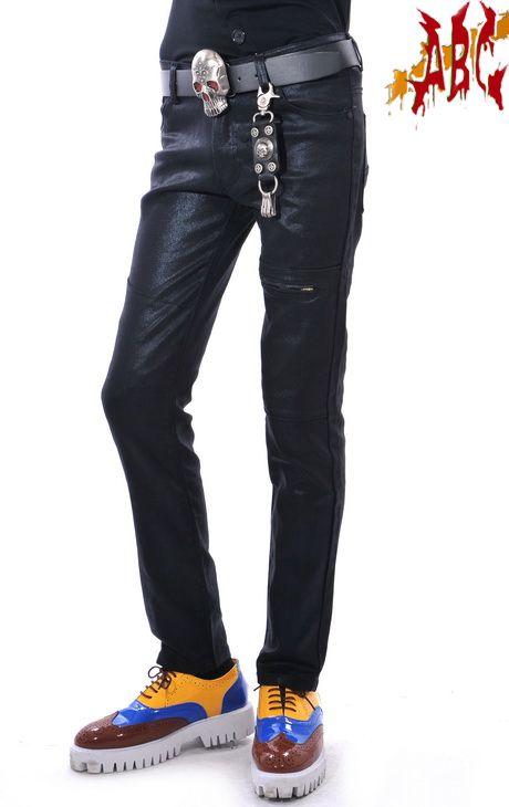 Поп рок этап певица личности мужской костюм яркий материал черные брюки для мужчин свободного покроя мода мужские брюки спортивные штаны