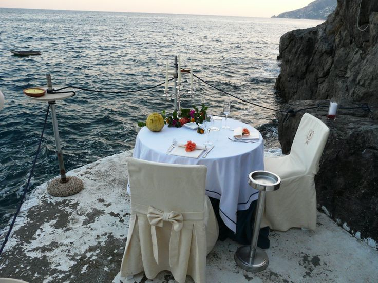 The most romantic dinner: just the two of you overlooking the #MediterraneanSea #TravelTuesday #DestinationWedding