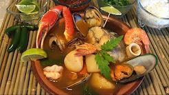 sopa de mariscos mexicana - YouTube