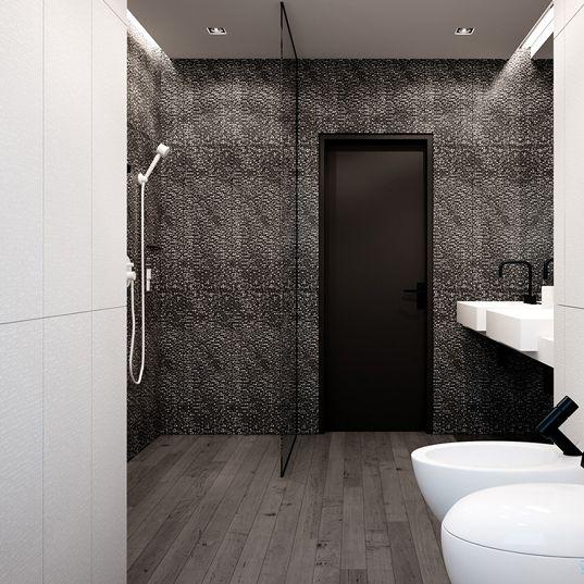 Bathroom design in Ruda Śląska POLAND - archi group. Łazienka w domu jednorodzinnym.
