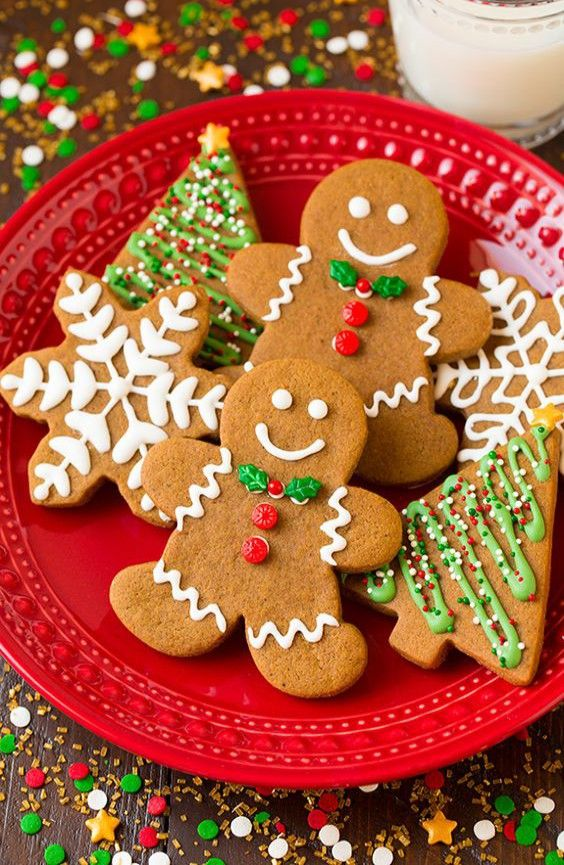 ... green christmas soft gingerbread cookies cookie recipes forward