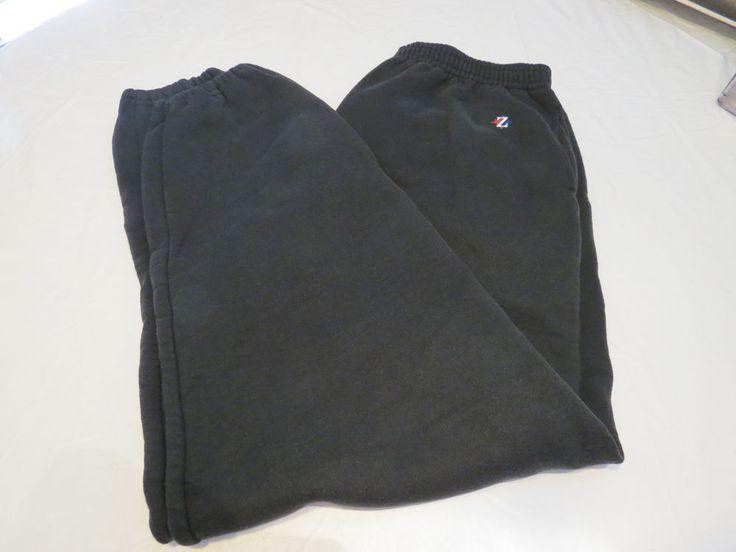 Jerzees Men's sweat pants active lounge XXL 2xl black  pre owned GUC*^ #Jerzees #sweatpants