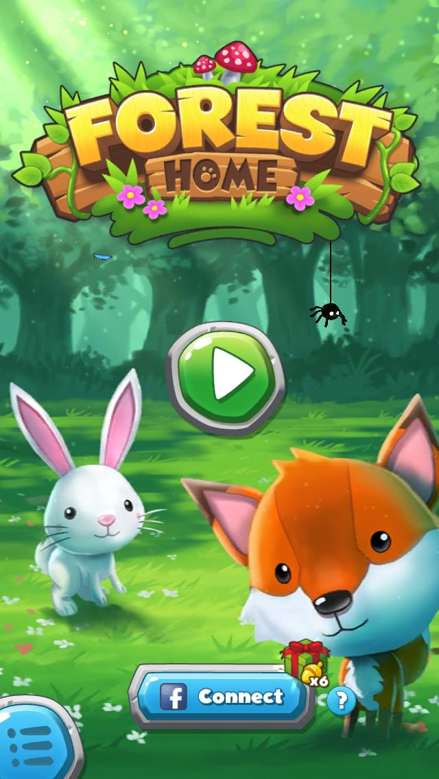 The colors used are related to woods, it matches the game theme, 3d effects, FOREST pop above the wood surface while HOME seems to be carved.