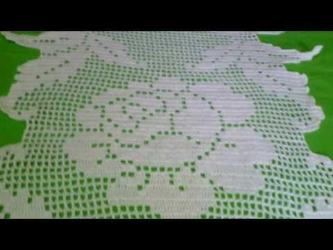 Toalha de mesa em crochê file. - YouTube