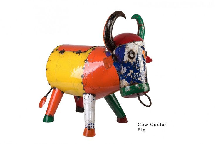 Bruce The Bull Cooler offers an exciting and quirky look with a fresh   take on recycling. This dazzling party bucket is fashioned  from 100% recycled oil  drums, and designed to take the harshest of  outdoor conditions.  Co-ordinate with an African scheme and a bright  colour palette. Features      Bruce The Bull Cooler is made in Vietnam from 100% recycled oil  drums,  with mild steel frame. Finished with a powder coat and 2 part   polyurethane paint to give depth of colour and protection…