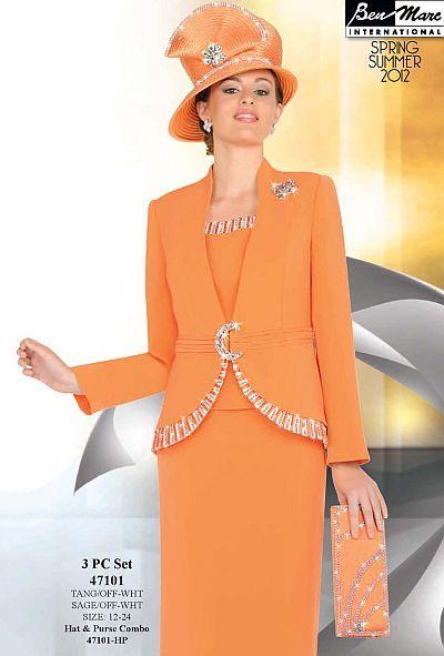 Ben Marc International Womens 3pc Church Suit 47101 First Lady