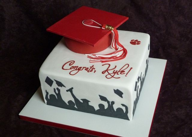 Graduation cake By Sugar Creation - she has some other cute designs for grads: