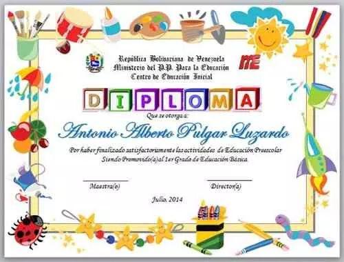 Diplomas Para Graduacion Preescolar Sxoleio Brabeia Etiketes