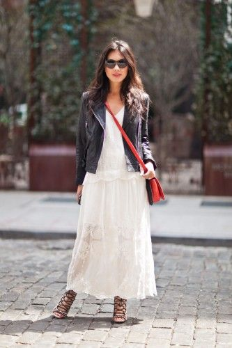 How to rough up your lace for a city outfit. Photo by Melodie Jeng