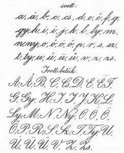 Normaírások a grafológiában -  Magyar normaírás 1923