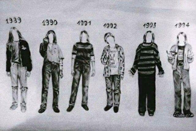 Kurt Cobain style throughout the years