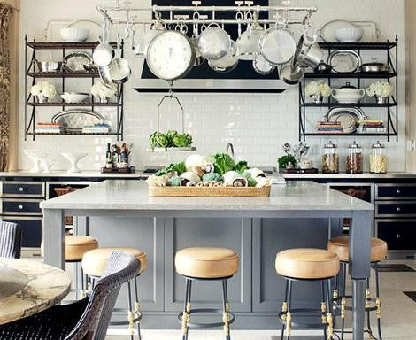 Interesting Kitchen. Backsplash Is White Subway Tiles. Very Pretty And  Affordable! Veranda Magazine