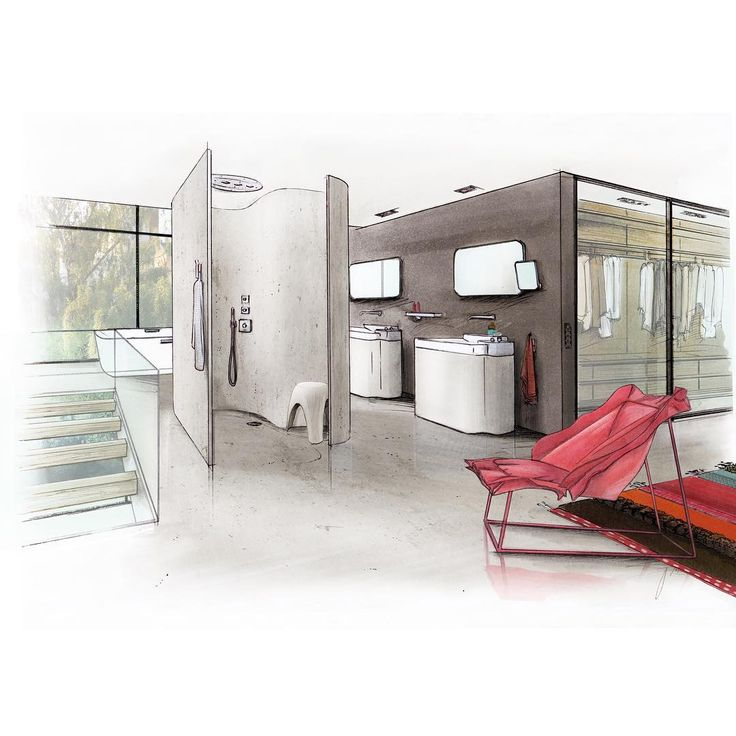 Best Interiors Sketch Images On Pinterest Interior Design