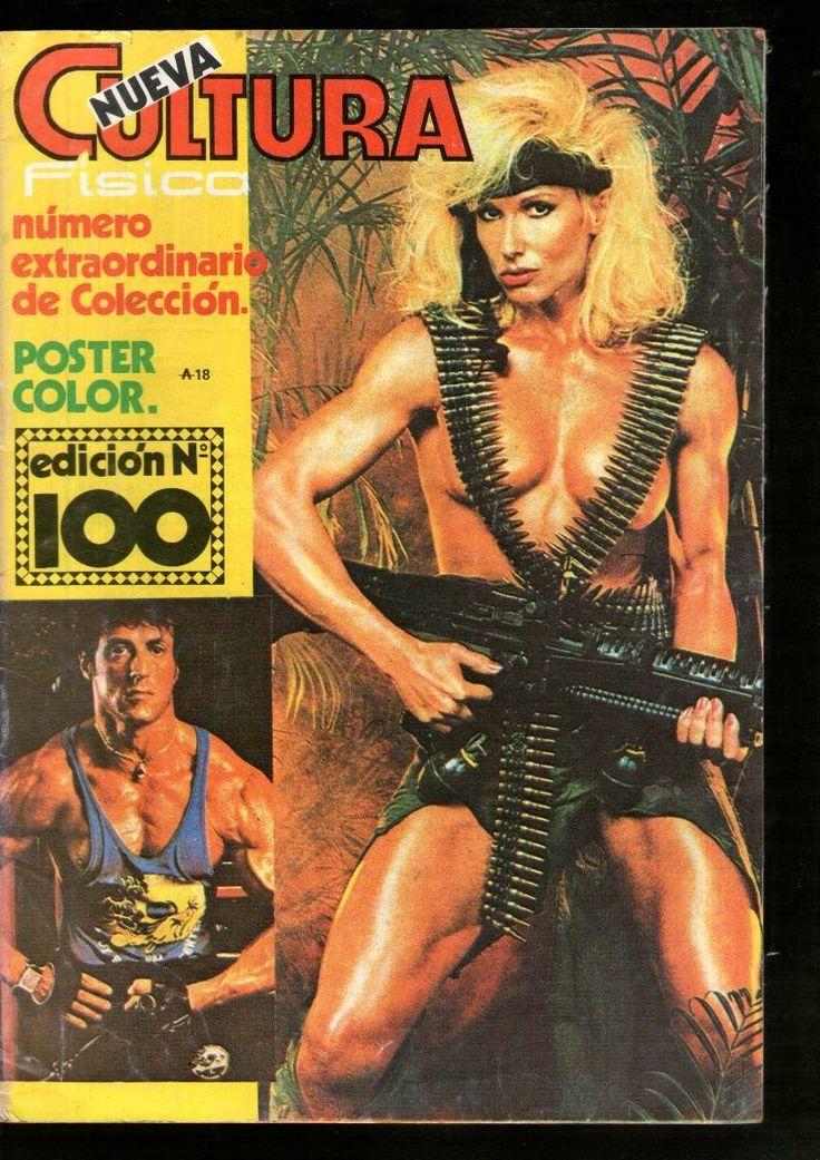 Girl with machine gun (848×1200) Nueva Cultura Fisica magazine cover