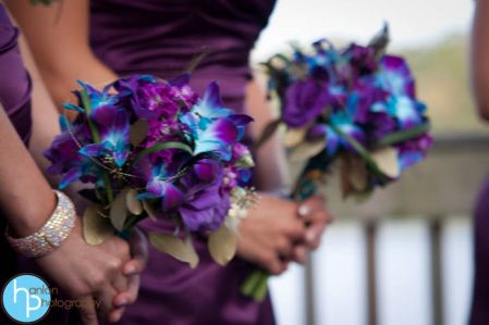 Blue and purple Bridesmaids bouquets very close to what we are going to use!!