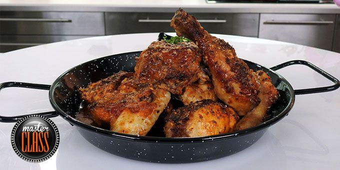 Ψητό πικάντικο κοτόπουλο με σάλτσα πίρι-πίρι
