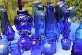 Southern Vintage | Vintage Cobalt Blue Glassware Rental Collection