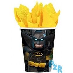 """Copos De Cartão Para Aniversário Do Tema """" Lego Batman """""""