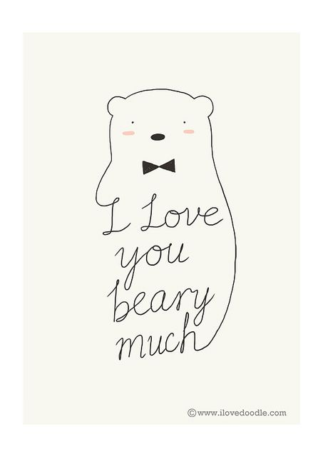 I Love You Beary Much | By Heng Swee Lim | ILoveDoodle