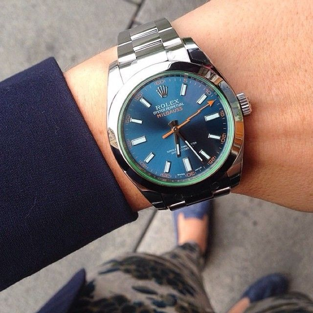 Rolex Milgauss Z Blue Watch This Pinterest Posts