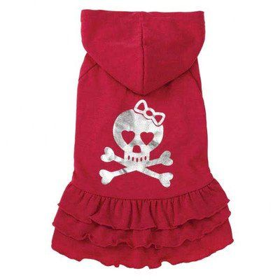 East Side Collection ZM3901 06 22 Rock Star Ruffle Dress for Dogs, Teacup Skull *** You can find out more details at the link of the image.